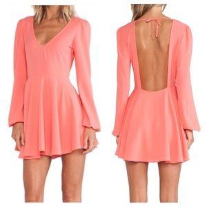 Lovers + Friends | Backless Long Sleeve Dress